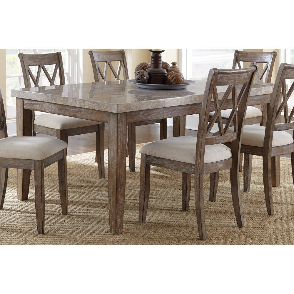 the gray barn abernathy marble top 70inch dining table
