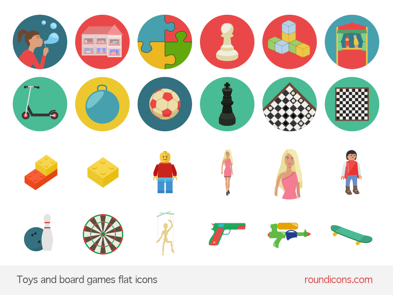 Toys And Board Games Flat Icons Flat Icon Board Games Icon