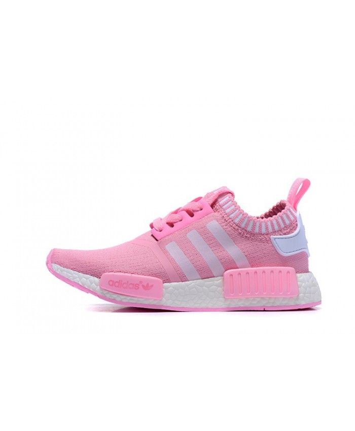 44d6cf230 Adidas NMD R1 Runner Primeknit Pink White Trainer Pink with bright and  bright features