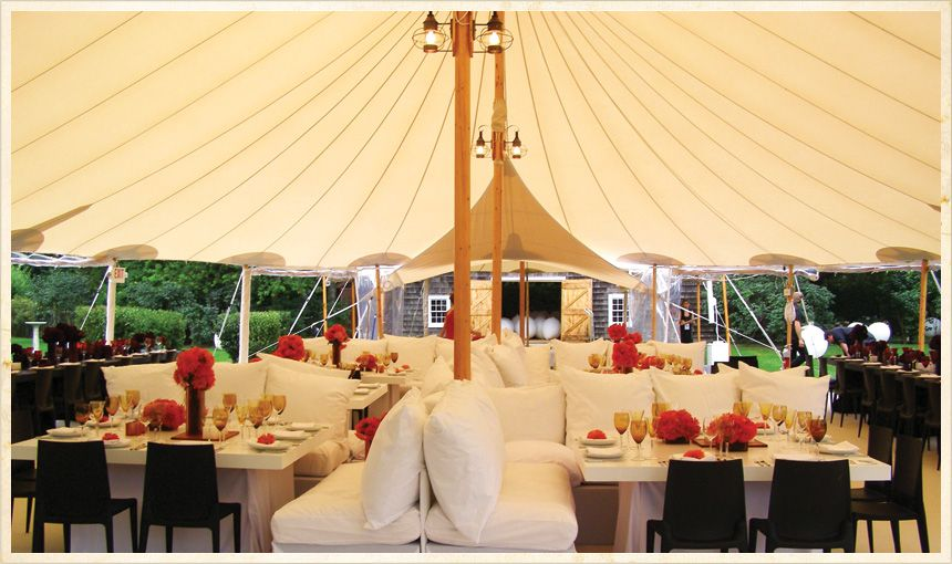 Tension Tents from Sperry Fabric Architecture & Create a romantic ambiance at a wedding reception with a tulle ...