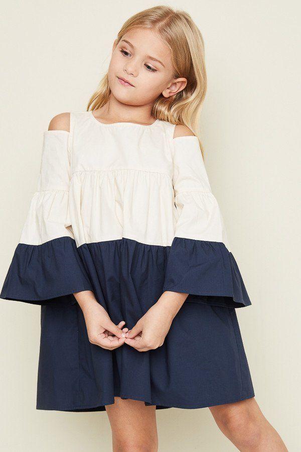 f7b369fbabd82 Hayden Los Angeles Cold Shoulder Poplin Dress - Girls 7/8 | Summer ...