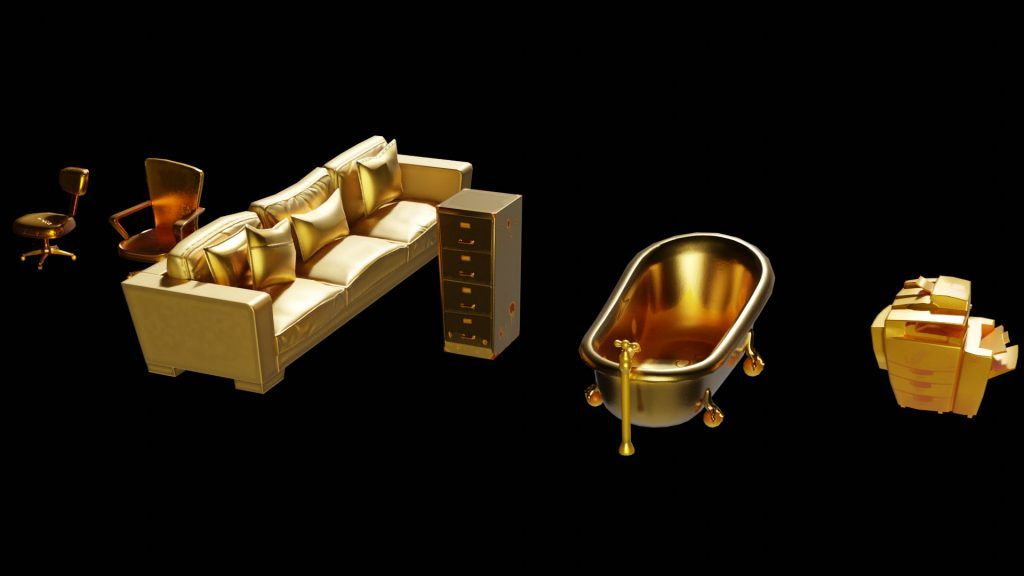 Fortnite Occasion Watch Agent Meowscles And Gold Prop Leak In 2020 Fortnite Gold Furniture Leaks