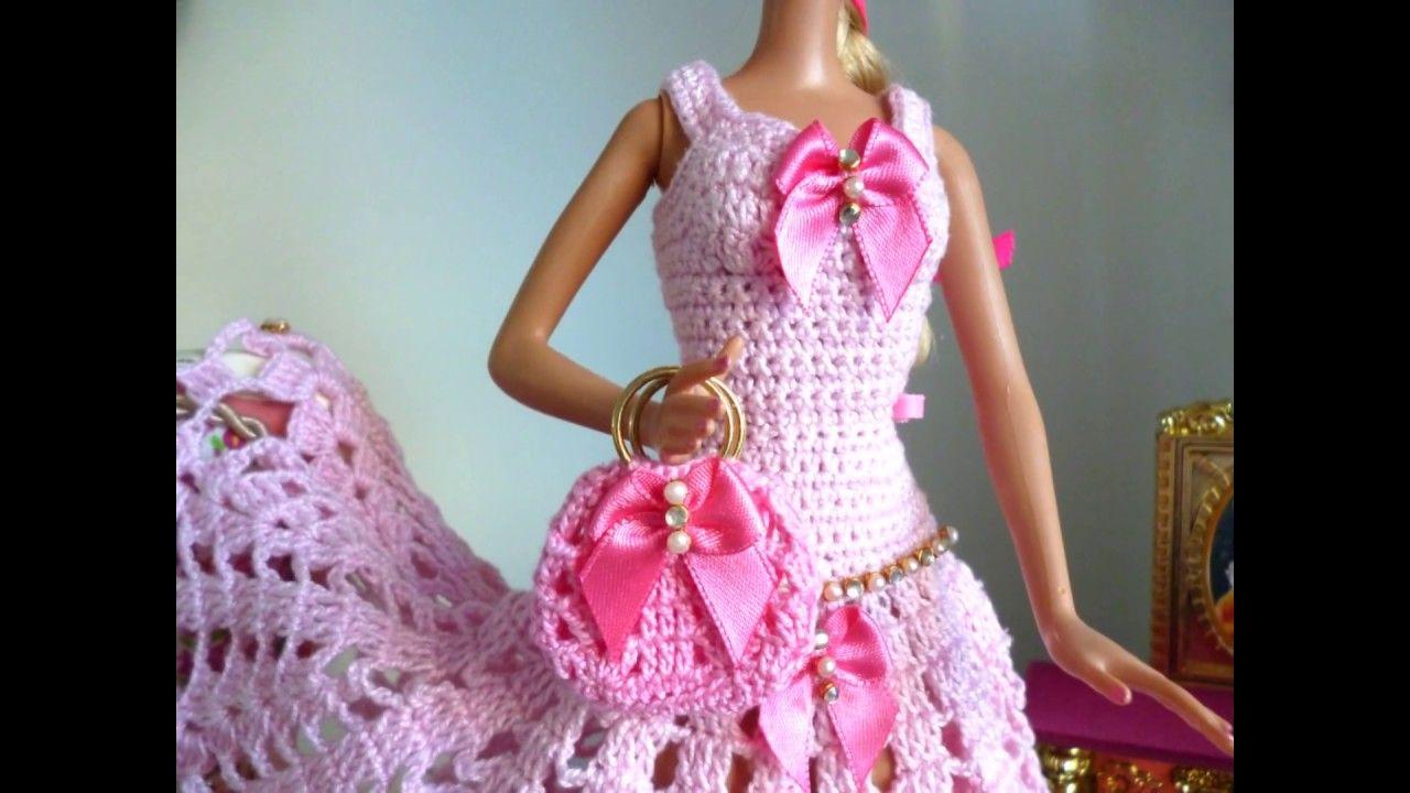 Crochê Barbie - Vestido de Ponta de Crochê Para Barbie Por Pecunia ...