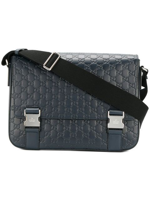 bce1496c8fce GUCCI Signature Messenger Bag. #gucci #bags #shoulder bags #leather ...