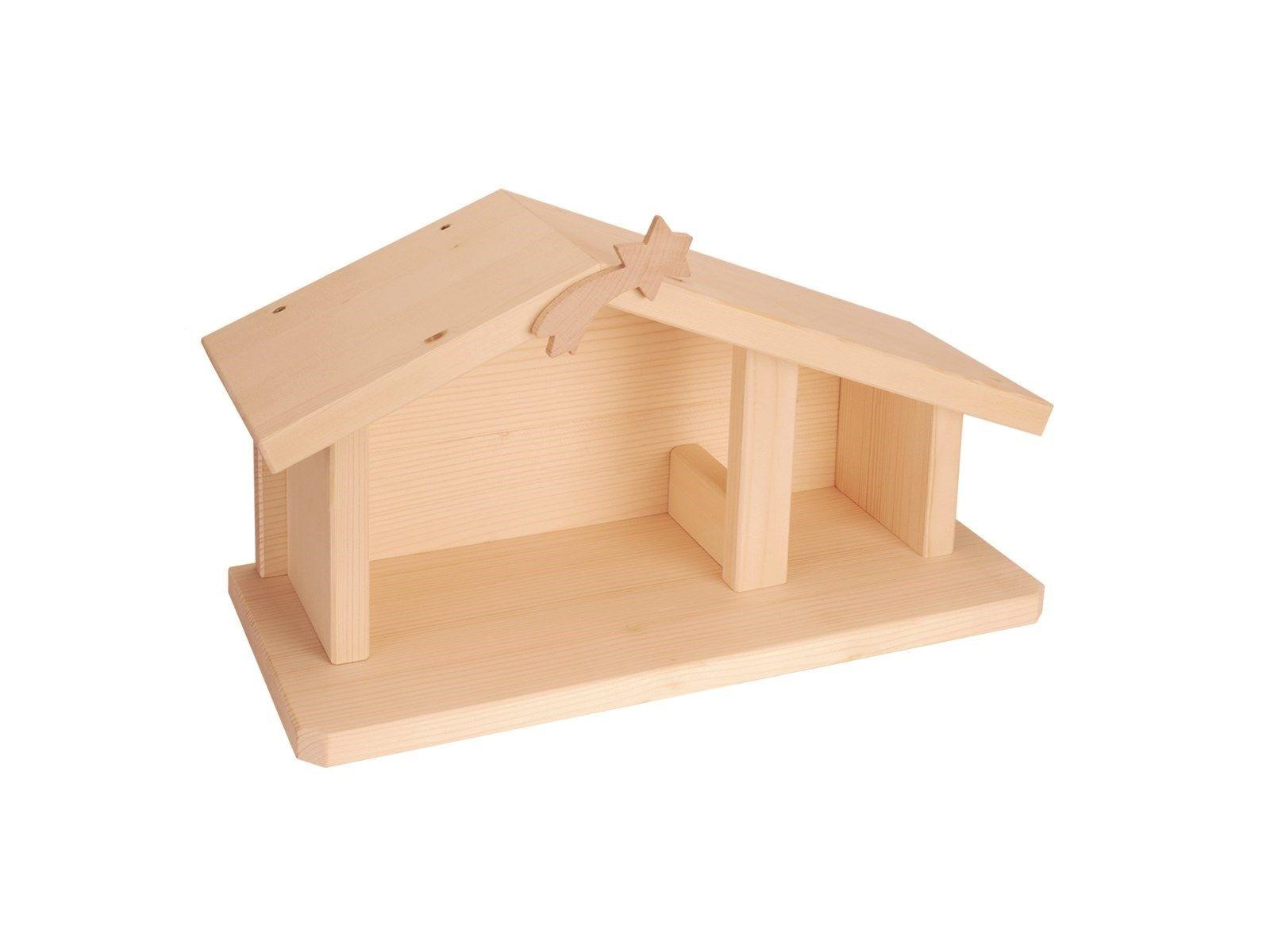 nemmer weihnachtskrippe als bastelsatz holzkrippe aus massiven fichtenholz sonstiges. Black Bedroom Furniture Sets. Home Design Ideas