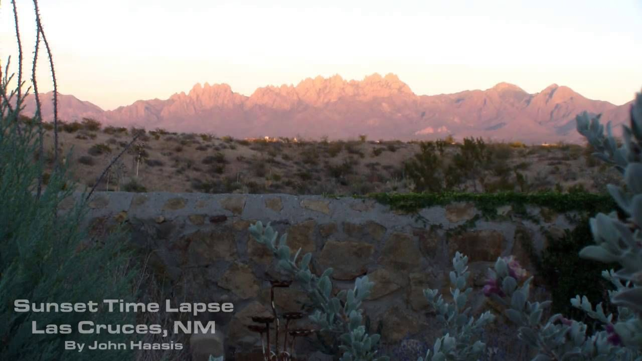 John's Sunset Time Lapse-Organ Mountains.  Near Las Cruces, NM