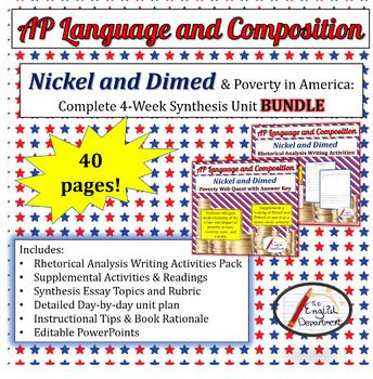 Persuasive Essay Examples High School This Bundle Has Everything You Need To Teach Barbara Ehrenreichs Nickel  And Dimed In An Ap Language And Composition Or Similar Class Abortion Essay Thesis also Science Technology Essay Nickel And Dimed Unit Bundle  My Hs English Classroom  Pinterest  English As A World Language Essay