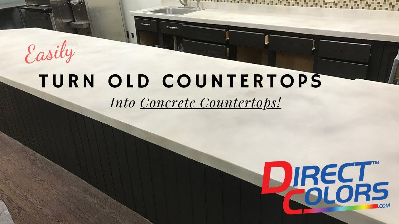 Turn Old Counters Into Concrete Countertops With Direct Colors