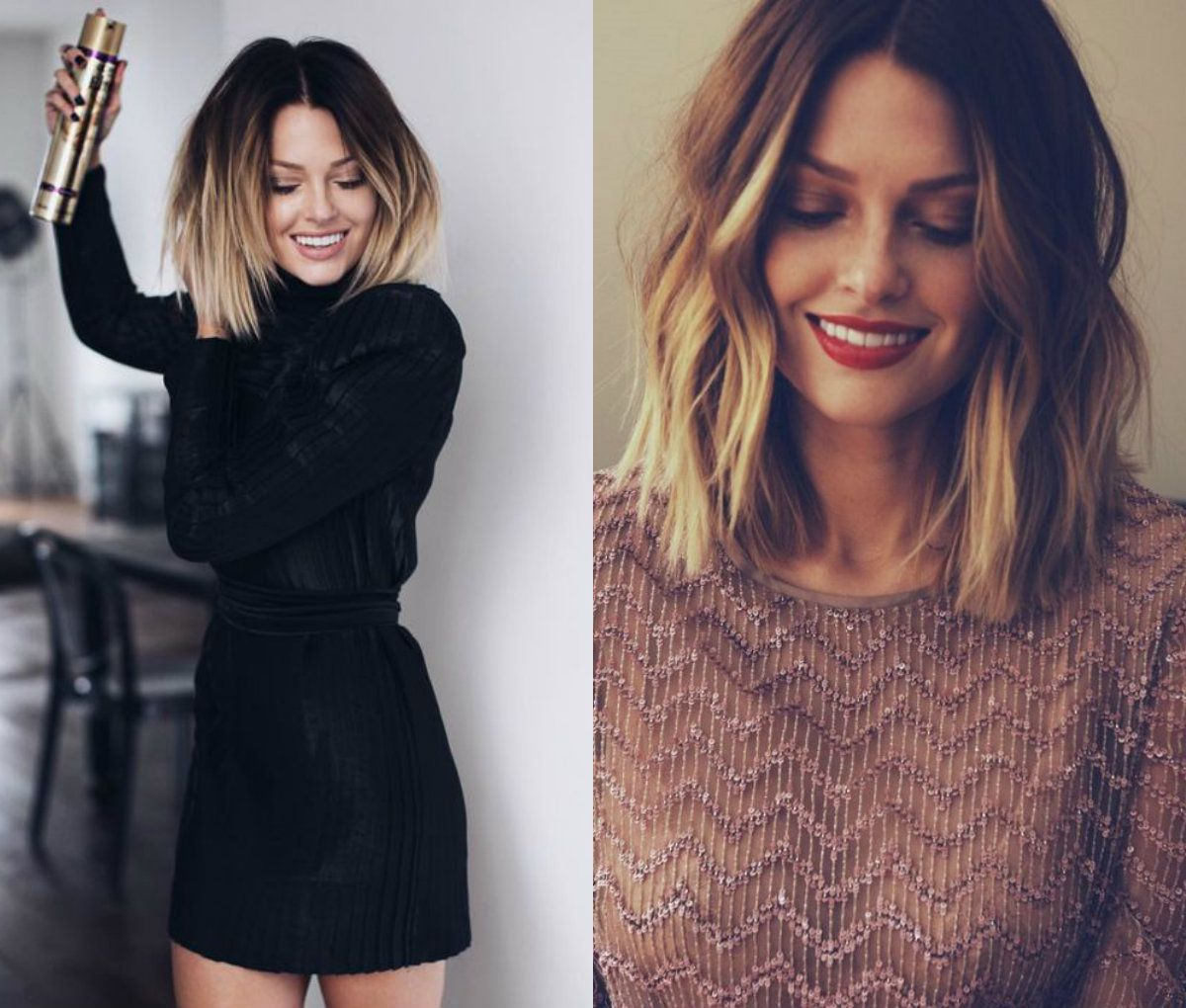 enchanting ombre lob hairstyles