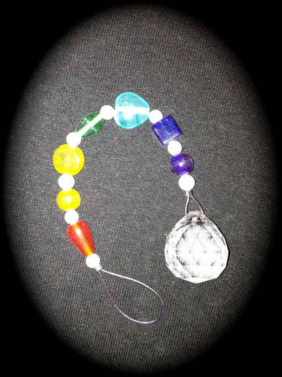 20 mm Crystal Ornament Rainbow of Glass beads by JulsCraftCrazy, $6.00