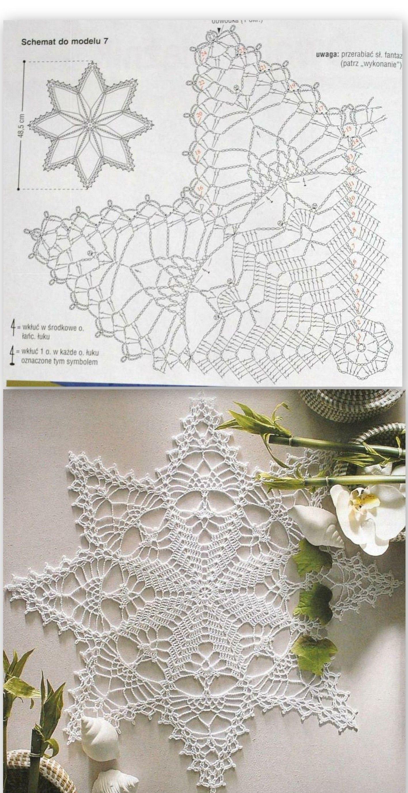 estrella ,esquema a crochet.Pattern. | crochet | Pinterest ...