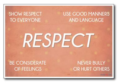 respect,kind,friendly,nice,attitude,listen,others,manners ...