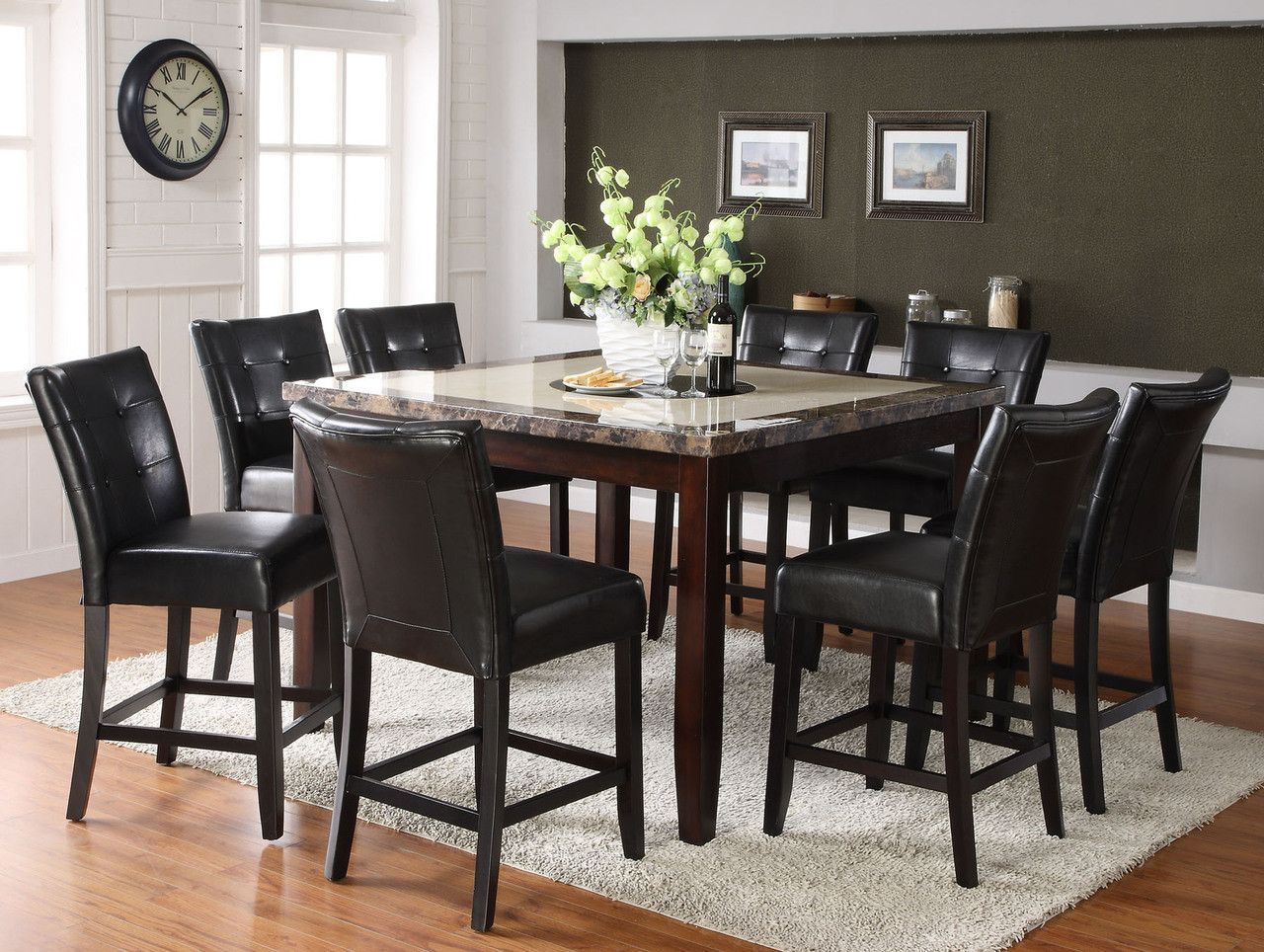 Counter Height Dining Table With 6 Chairs Belleview Ii Collection