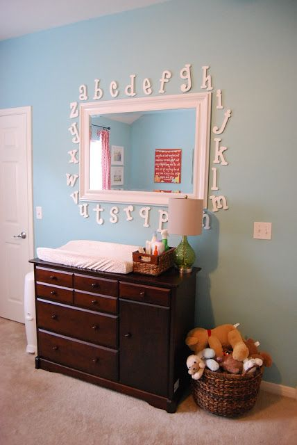 Like the non changing table idea with wicker baskets and a