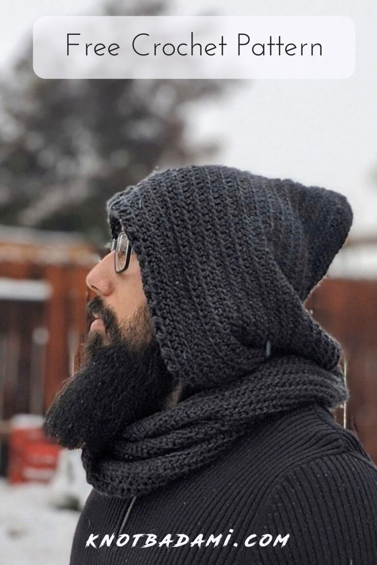 Hooded Blueprint Scarf - Knot Bad