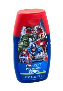 Crest Pro-Health Stages Marvel Avengers Liquid Gel Toothpaste
