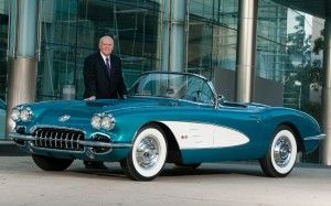Dan Akerson with 1958 Chevrolet Corvette 300x187 photo