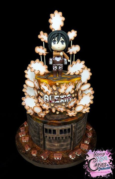Attack On Titan Cake Anime Party Pinterest Cake Anime Cake
