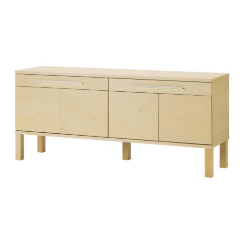 BJURSTA Sideboard IKEA The doors have no knobs or handles, but open by applying light pressure