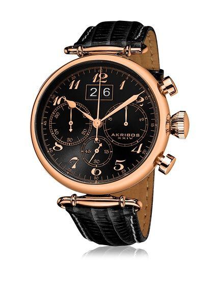 fc7786ea3bd Akribos XXIV Reloj con movimiento cuarzo japonés Man AK628RG 45 mm en  Amazon…
