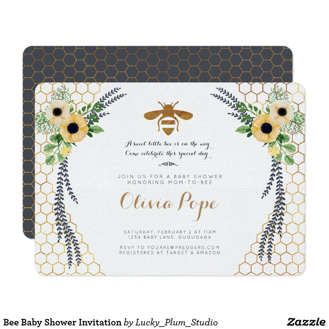 Bee Baby Shower Invitation   BaBy-Que   Pinterest   Shower invitations