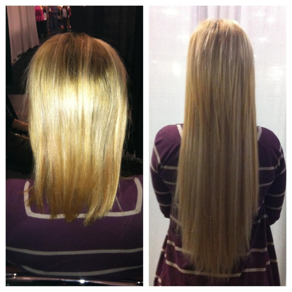 Before And After 22 Inches Hair Extensions By Nancy Brazilian