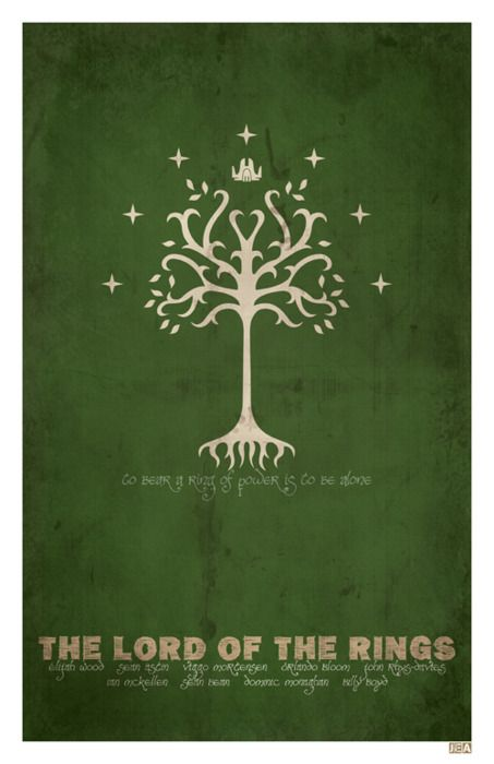 minimal poster series - The Lord of the Rings (2001) Maybe as chalkboard painting ?