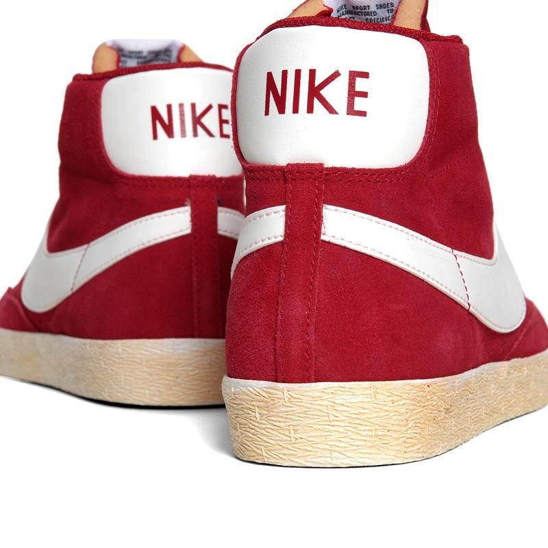 Nike Blazer High Premium Retro - Gym Red. Love these!! Suede finish ... 50166ccc1a05