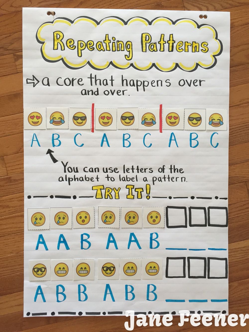 Pattern Anchor Chart Emoji Style Great To Show When Teaching Patterns Math Workshop Activities Math Workshop Math Patterns [ 1334 x 1000 Pixel ]