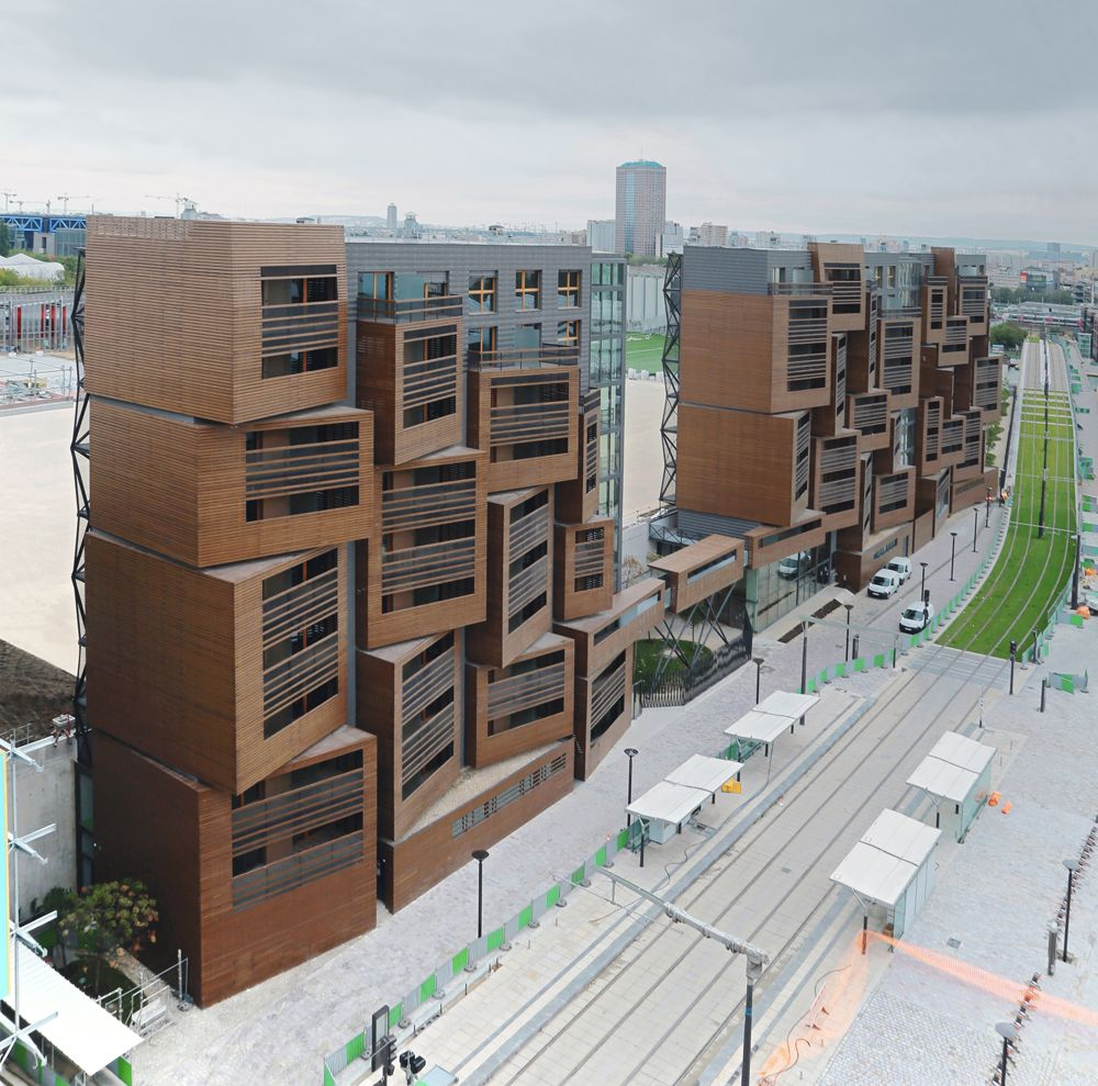 Gestapelte Kuben Studentenwohnheim in Paris Architektur