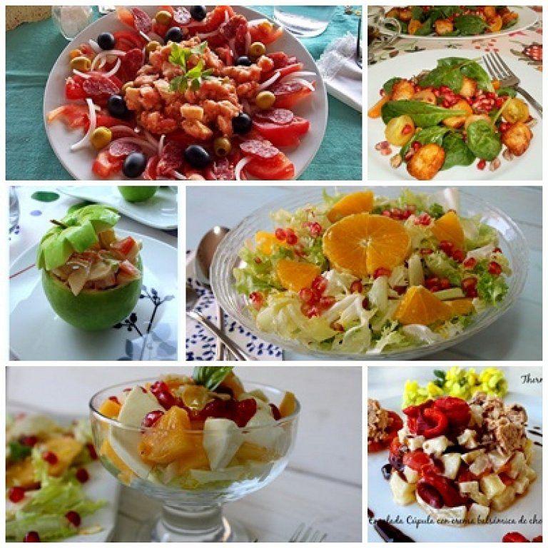 Ensaladas para servir en las cenas y comidas navide as - Cenas sin cocinar ...