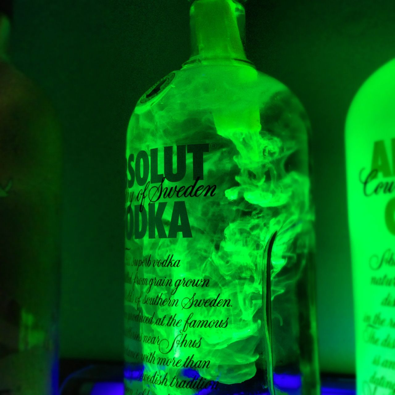 Use water and highlighter ink + a blacklight for some cool bar ...