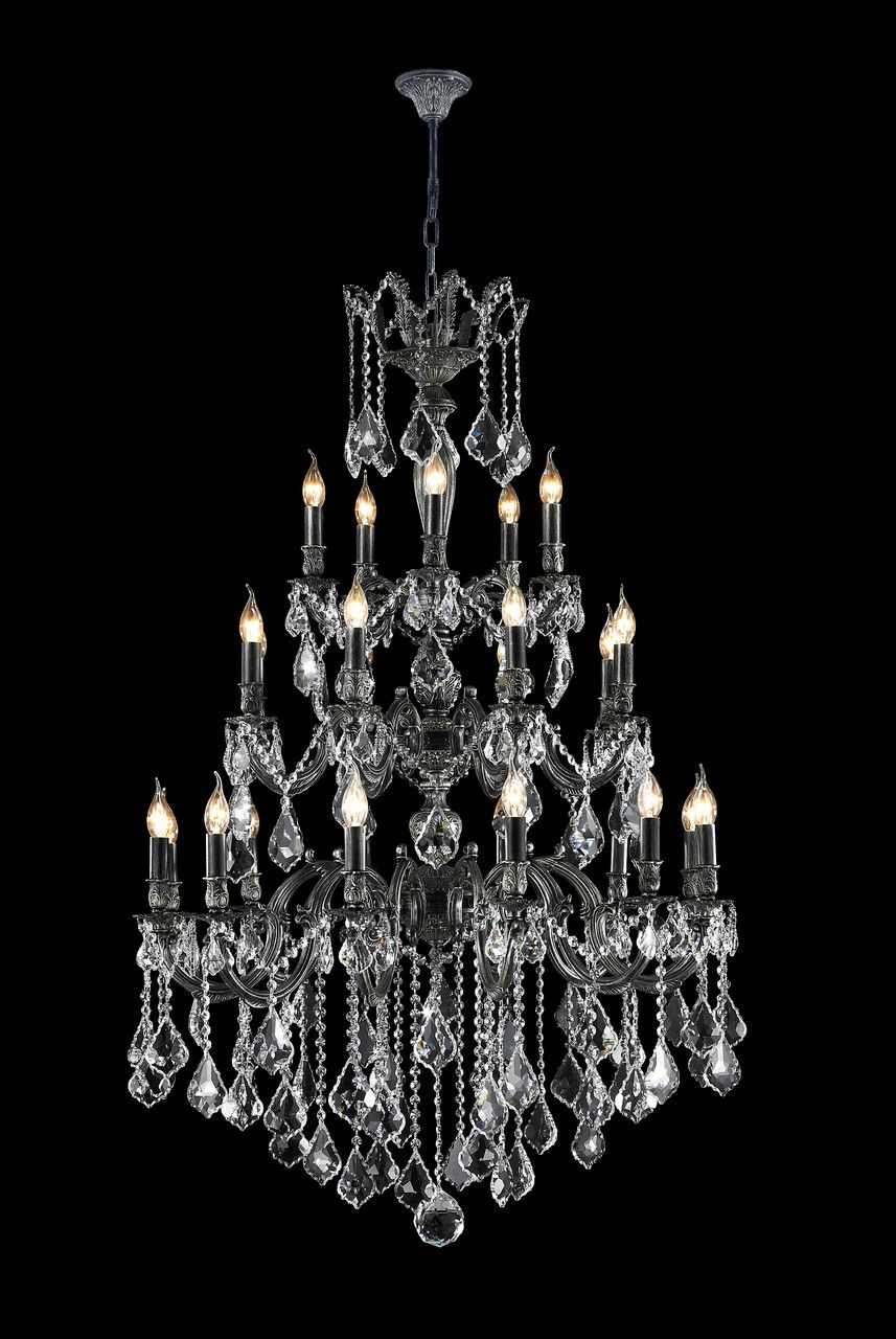 Americana Antique Silver Finish Large Crystal Chandelier With 25 Lights Exclusive To Designer Australia