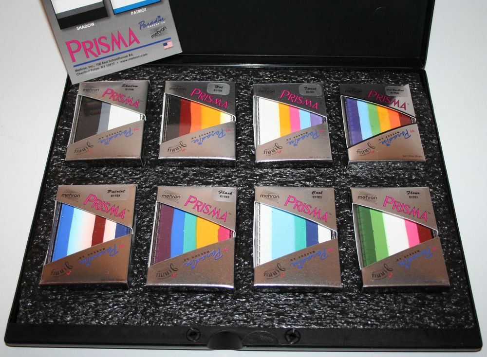 Prisma AQ Palette Mehron split cake face paint theatrical performance makeup FX  #Mehron