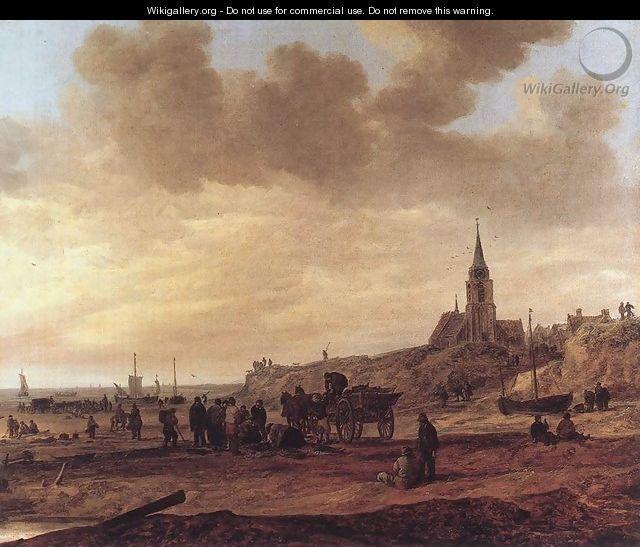 Jan van Goyen - Beach at Scheveningen 1646