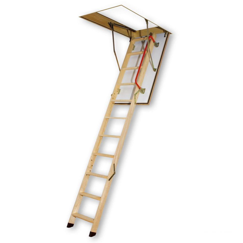 Attic ladder wooden fire rated lwf 22 12x54 300lbs 10