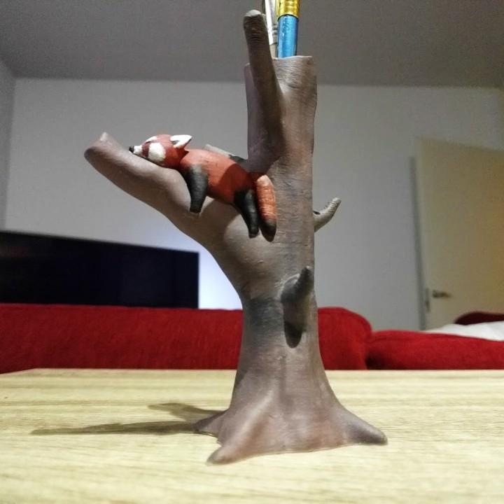 3D Printable Red Panda Tree by Jukka Seppänen Panda tree