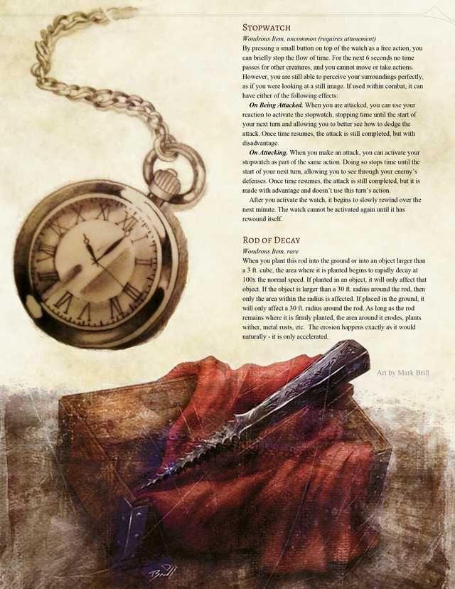 Rogue Subclass: Chronokeeper v2 + 2 Chronomancy Magic Items | D&D