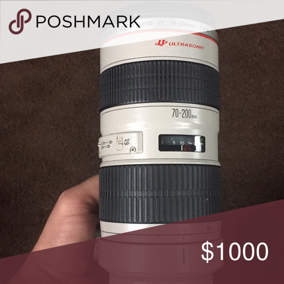 Canon Zoom Lens EF 70200mm with filter bundle This is one