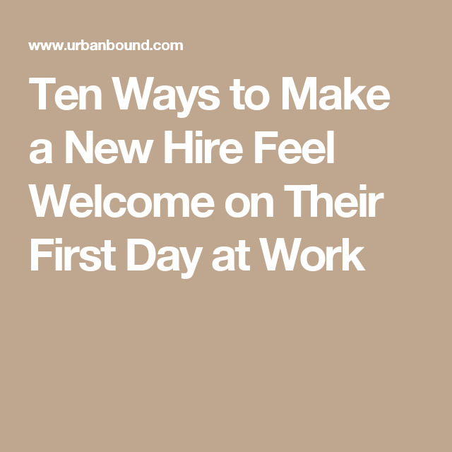first day of work tips