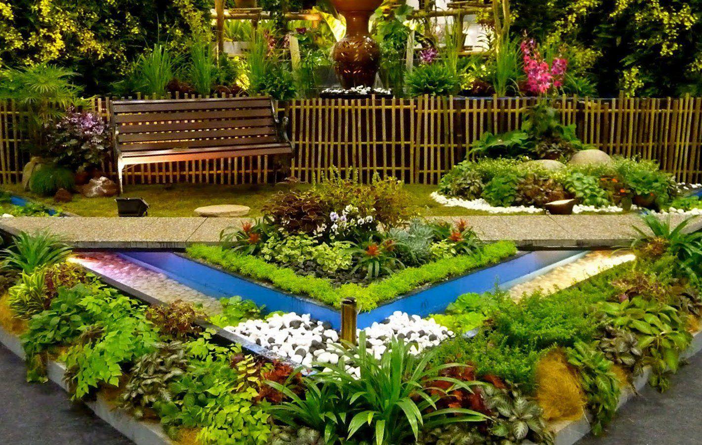 30 Awesome Flower Garden Design For Your Front Yard Teracee Small Backyard Gardens Garden Landscape Design Backyard Garden Landscape