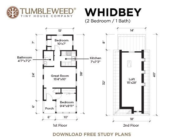 Tiny Houses For Sale Tumbleweed Houses Tiny Cottage Tiny House Company Tiny House Floor Plans