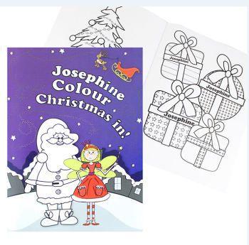 christmas gift coloring page.html