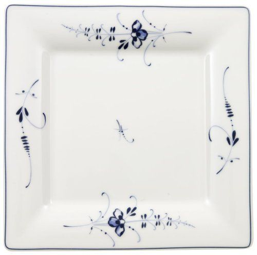 Villeroy & Boch Vieux Luxembourg 8-1/4-Inch Square Salad Plate by Villeroy & Boch. $25.79. Delicate blue flowers on inviting cream shape. Imported from Germany; dishwasher- and microwave-safe. Made of vitrified porcelain for strength and durability. 8-1/4-inch Vieux Luxembourg square salad plates from Villeroy & Boch. Full line of dinnerware, accessories, and bakeware available. Amazon.com Delicately detailed and invitingly shaped, it's easy to see why V...