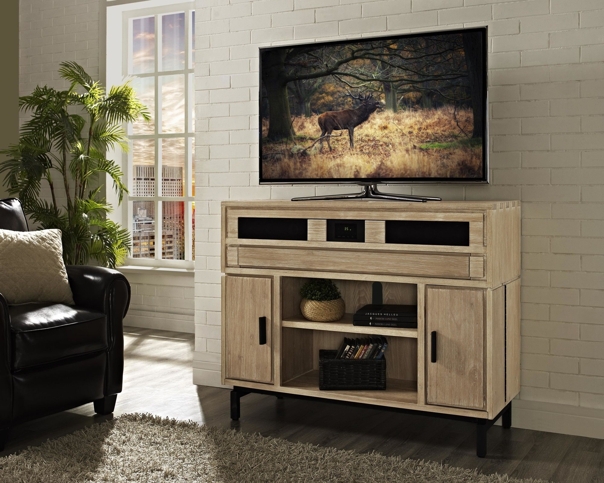 Soho 48 Deluxe Tv Stand With Built In Surround Sound Products