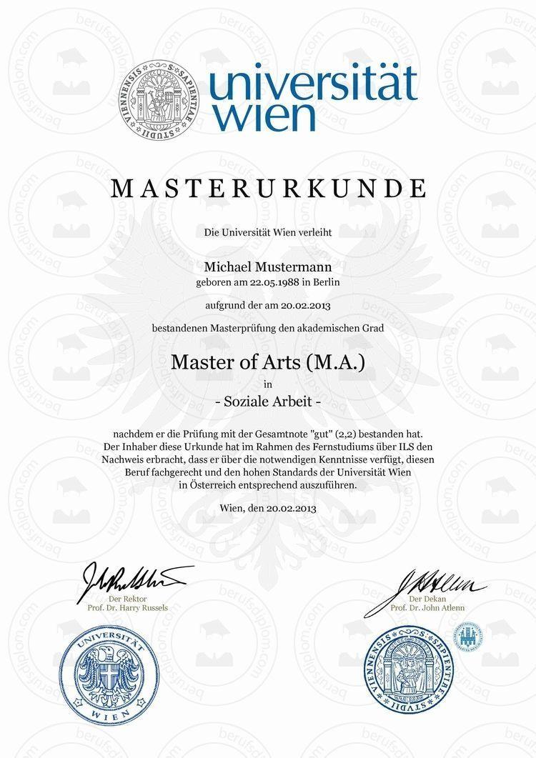 Master Degree Deutsch