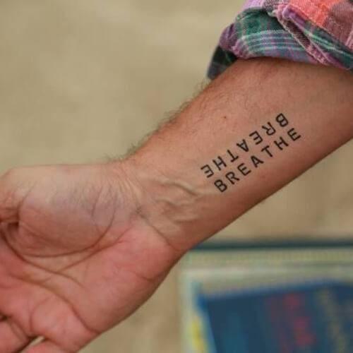 Breathe Temporary Tattoo | Mantra Tattoos - Temporary on the Skin ...