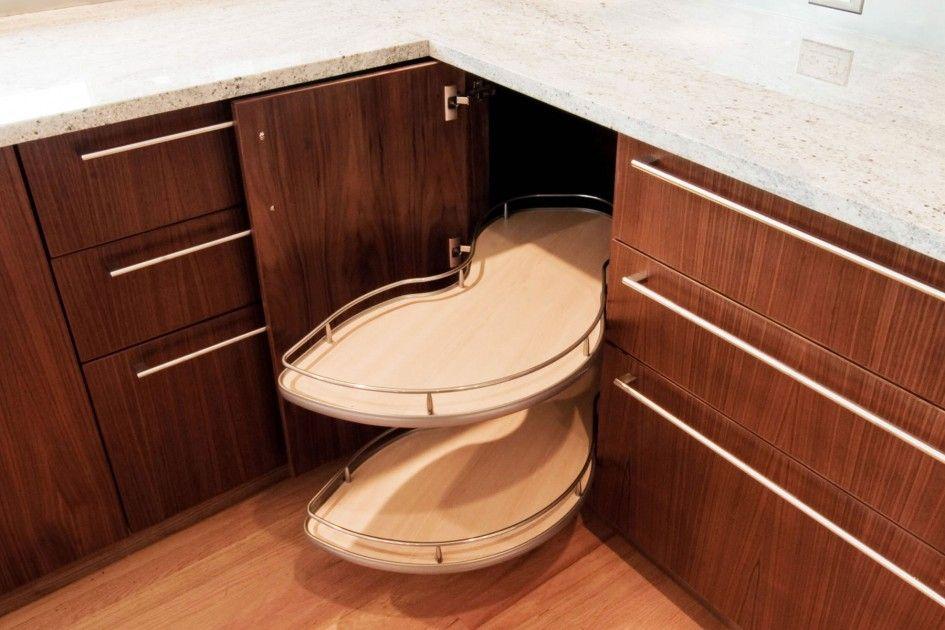 Magnificent Corner Drawer Cabinet Kitchen with Kidney ...