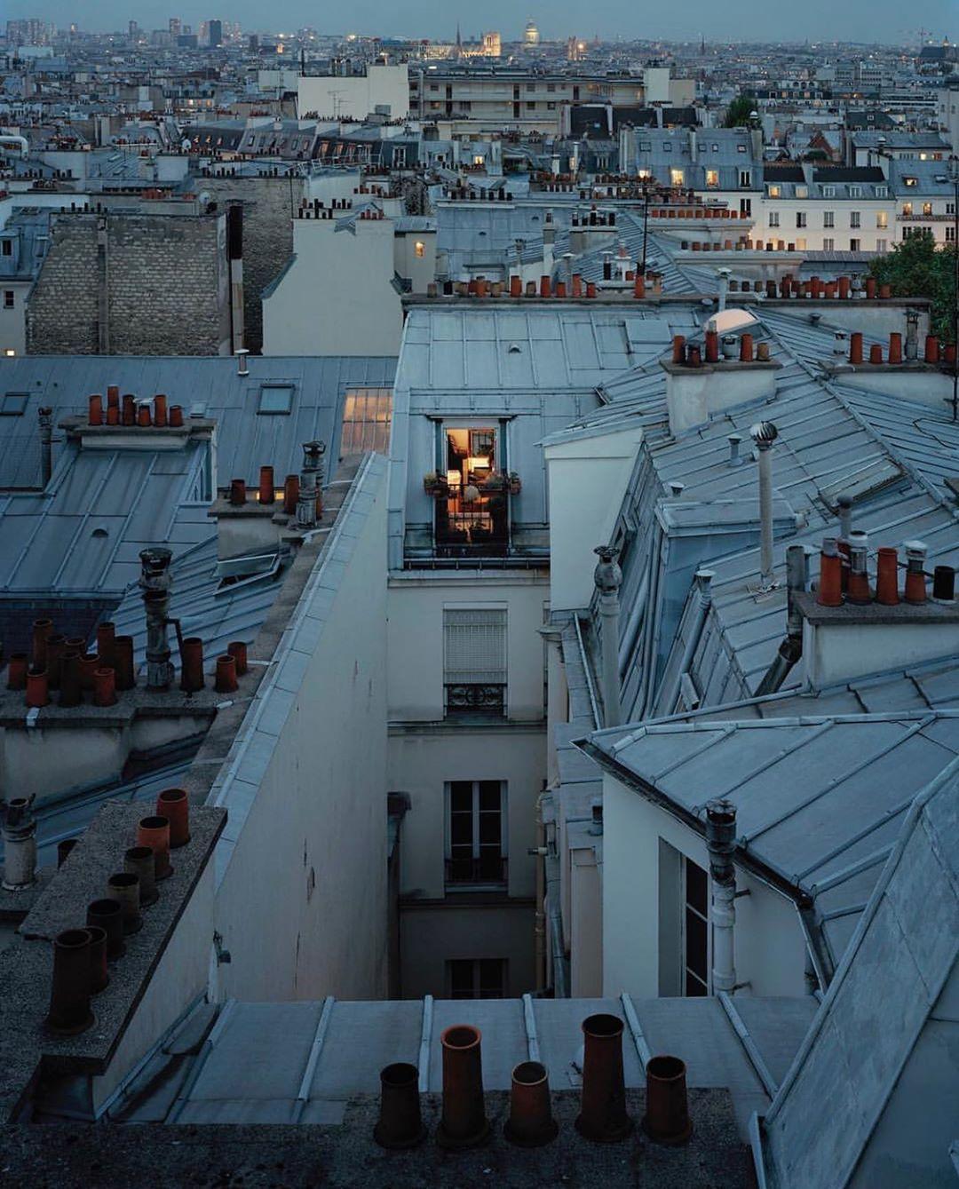 "Hotel Villa La Parisienne Parigi steffan on instagram: ""parisian nights 🌙 the rooftops of"