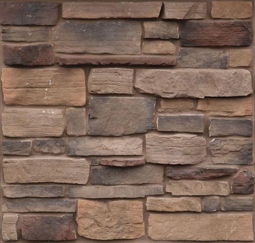 Cast Natural Stone 10 Sq Ft Sheldon Weatheredge At Menards Reddish Hues Black Brown Per